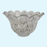 Pressed Glass Crystal Flower Bowl