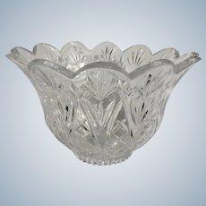 Pressed Glass Crystal Flower Bowl