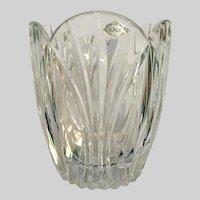 Jonal Crystal Glass Vienna Vase Poland Heavy