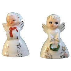Vintage Holt Howard  Christmas Angel Girl Figurines HH 1958