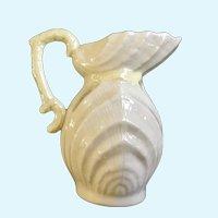 Belleek Neptune Yellow Shell Creamer Syrup Pottery Ireland 1955-1992