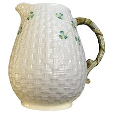 Belleek Shamrock Pitcher 1965-1980 6th Mark Ireland