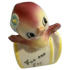 PY Fun and Joy Mailbox with Bird Salt or Pepper Shaker Japan Replacement
