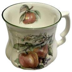 David Michael China Mug Apples and Blueberries Coffee Cup Teacup Staffordshire England Bone China