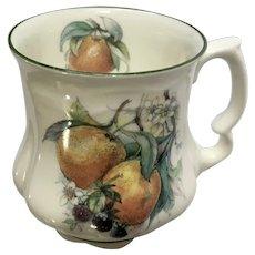 David Michael China Mug Oranges and Blackberries Fruit Coffee Cup Teacup Staffordshire England Bone China