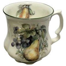 David Michael China Mug Pear and Grapes Coffee Cup Teacup Staffordshire England Bone China