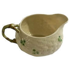 Belleek Shamrock Creamer 7th Mark 1980-1993 Ireland Pottery