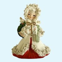 Vintage Napco Christmas Spaghetti Angel Figurine S116B