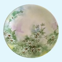Dessert Plate Hand Painted Daisies Flowers D & C France Delinieres Co.