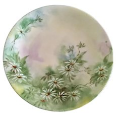 Dessert Plate Hand Painted Daisies Flowers D & C France Delinieres Co. 1894 - 1900