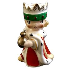 1960 Holt Howard Christmas Wee Three Kings Candle Holder Bell Replacement Figurine