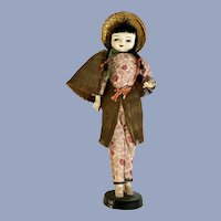 Mid-Century Asian Peasant Coconut Doll
