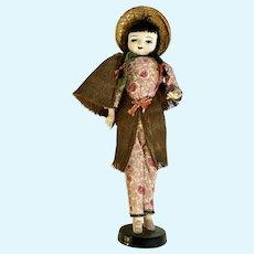 Mid-Century Asian Coconut Doll