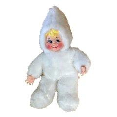 "Mid-Century Christmas Rushton Rubber Face Snow Baby Doll 24"" Stuffed Plush Toy Atlanta, Ga."