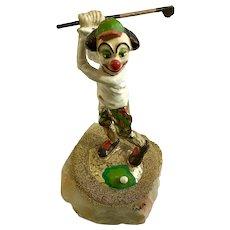Ron Lee Clown Golf Club Driver 1986 Quartz Figurine