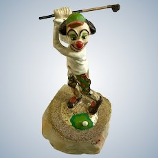 Ron Lee Clown Golf Club Driver 1986 Quartz Figurine