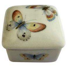 Butterfly Moth Limoges France Trinket Box Porcelain