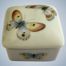 Butterfly Moth Limoges France Trinket Box Porcelain