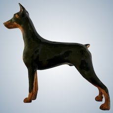 Royal Doulton Doberman Pincher Dog Figurine Ch. Rancho Dobe's Storm Made in England HN2643