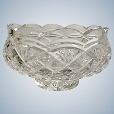 Waterford Footed Crystal Bowl Giftware