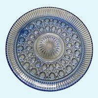 Federal Glass Windsor Carnival Blue Serving or Cake Plate
