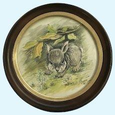 V. Younger, Bunny Rabbit Mixed Media Watercolor