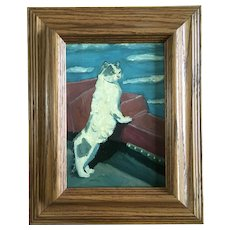 Susan Spohn, Charlie the Cat Oil Painting Signed by Artist