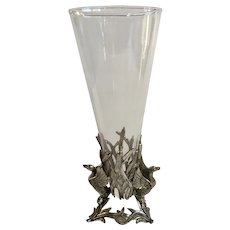 Rare Arthur Court Aluminum Duck Bird Vase
