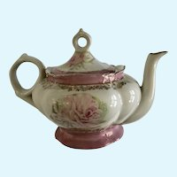 Lenox Music Box Teapot Pink Roses Plays, 'Memory' Made in Japan