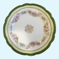 O&EG Royal Austria Plate Beautiful Green Floral