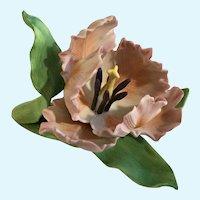 Lenox Parrot Tulip Porcelain Flower Figurine American by Design