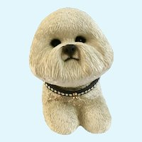 Sandicast Bichon Dog Door Stop Figurine