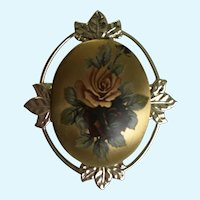 Beautiful Roses Gold-Tone Silver-Tone Brooch Pin