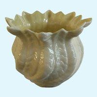 Belleek Large Flower Pot Giftware Mark 7 1980-1993 No Box
