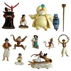 Vintage Disney Aladdin Figurines Action Figures 11 Pieces