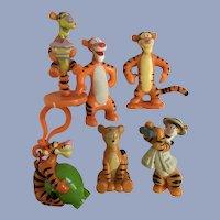 Vintage Disney Winnie the Pooh Tigger Figurines 6 Pieces