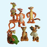 Vintage Disney Winnie the Pooh Tigger Figurines 6 Pieces