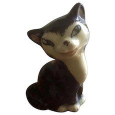 Figaro Cat Miniature Clay Ceramic 19th Century Figurine