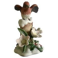 Lenox Christmas Purple Finch Bird Figurine Discontinued 2011