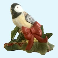 Lenox Christmas Chickadee Bird Figurine Discontinued 2009
