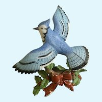 Lenox Christmas Blue Jay Bird Figurine Discontinued 2007