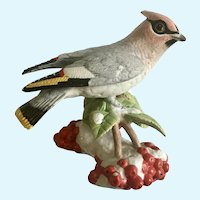 Lenox Christmas Bohemian Waxwing Bird Figurine Discontinued 2017