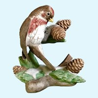 Lenox Christmas Common Redpoll Bird Figurine Discontinued