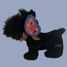 Scottie Dog Scottish Terrier MacDougal December Birthstone Full O' Beans 2000 Plush Avon