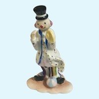 Royal Lux Clown Fine Hand Painted Porcelain Figurine Made in Italy Roylallux