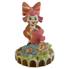 Sugar & Spice Girl with Flowers UOGC Porcelain Figurine