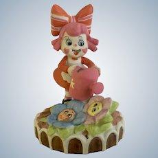 Sugar & Spice Girl with Flowers UOGC Porcelain Figurine