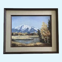 Joanne Yager, Mt Elbert Mountain Scene Landscape Oil Painting Signed by Colorado Artist