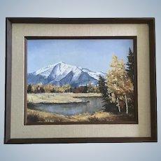 Joanne Yager, Mt Elbert Mountain Scene Landscape Oil Painting Signed by Colorado Artist