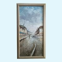 Nicholas Palsey, European Cityscape French Impressionist Parisian Street Scene Signed by Artist